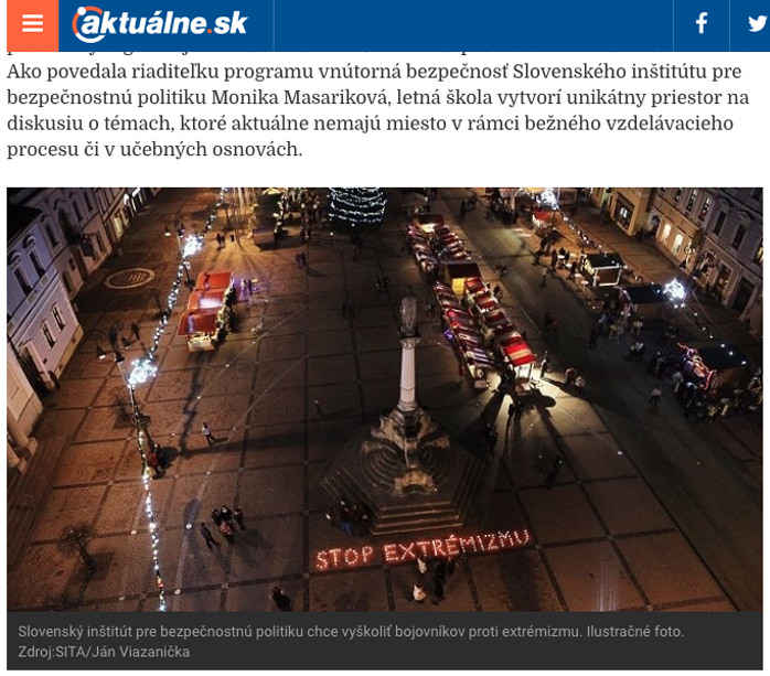 jan viazanicka, stop extremizmu